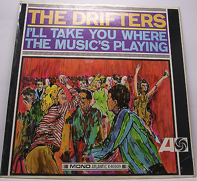 """THE DRIFTERS : I'LL TAKE YOU TO WHERE THE MUSIC IS Album Vinyl 12"""" LP Mono VG"""