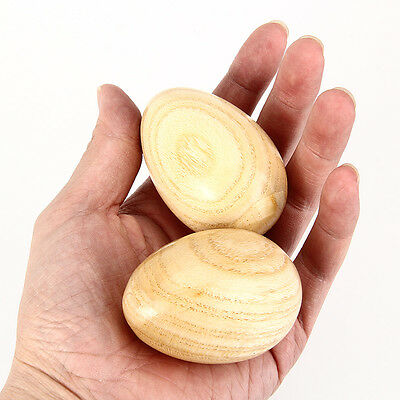 2PCS Egg Shakers Maraca Sand Ball Wood Hand percussion musical for KTV Bar