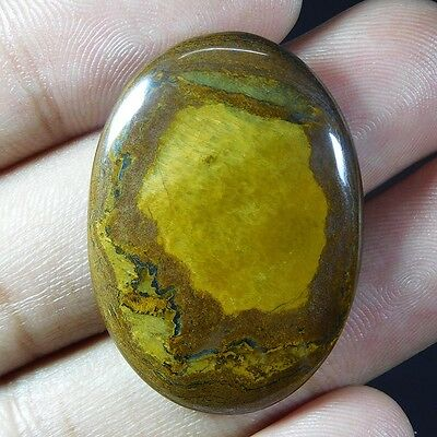 46.95Cts 100% NATURAL CHARMING TIGER EYE OVAL 35X25 LOOSE CAB GEMSTONE UJ176