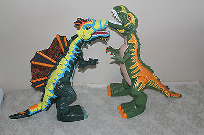 Fisher Price Imaginext Mega T-Rex Spinosaurus Roaring Moving Dinosaurs