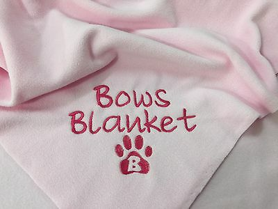 Personalised Dog Blanket choice of colours