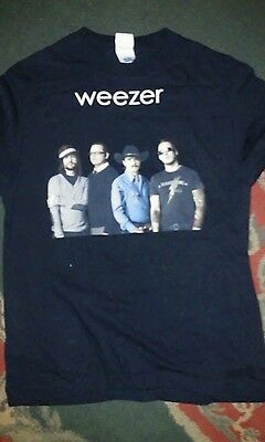 Vtg rock band 2008 Weezer 2 Sided Concert T Shirt  Troublemaker Tour size M