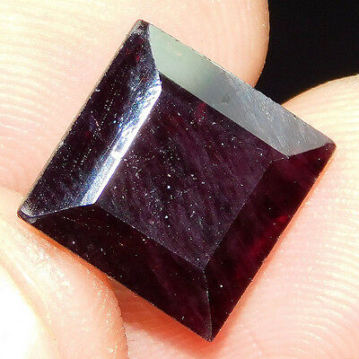 9.15Cts 100%NATURAL BEAUTIFUL FACETED GARNET  12X12 LOOSE CAB GEMSTONE UP371
