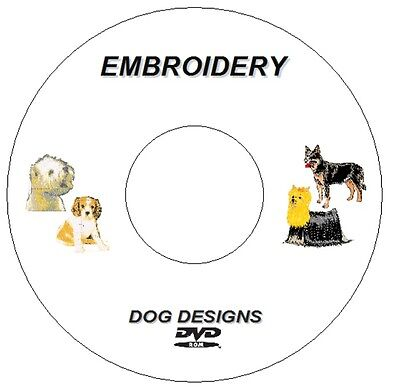 New Embroidery Dogs 400+ Designs On Dvd / Cd Pes Format Brother