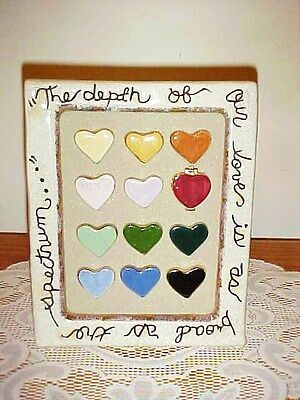"Blue Sky Clayworks Heather Goldminc ""Depth of Our Love"" Hearts Picture Frame"