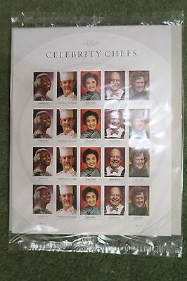 USA  STAMPS 2014 Celebrity Chefs sheet of 20 unopened Child Beard Chen Lewis