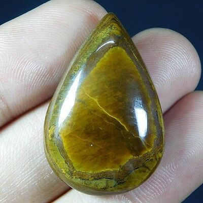 51.5Cts 100% NATURAL AMAZING TIGER EYE PEAR 35X23 LOOSE CAB GEMSTONE UJ174