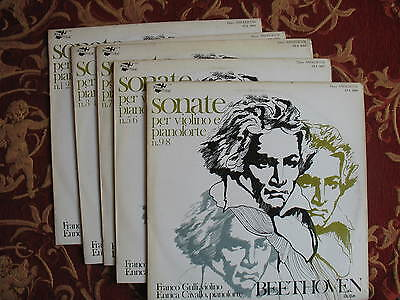 BEETHOVEN Violin Piano sonatas GULLI CAVALLO 5 Lp's ANGELICUM 1ed Near Mint