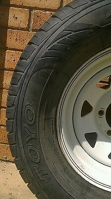 set of 5 6 stud wheels and tyres