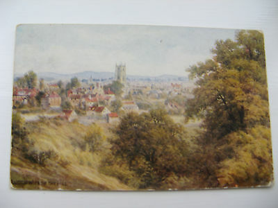 LUDLOW FROM THE HILL - posted card from 1955