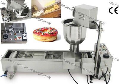 500PCS/H Heavy Duty Electric Auto Cake Donut Doughnut Maker Machine Fryer 3 Mold