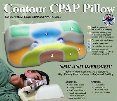 CPAP PILLOW - Using a CPAP machine help STOP CPAP masks dislodging while snoring