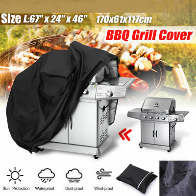 Large BBQ Cover Heavy Duty Waterproof Rain Snow Barbeque Grill Protector Outdoor