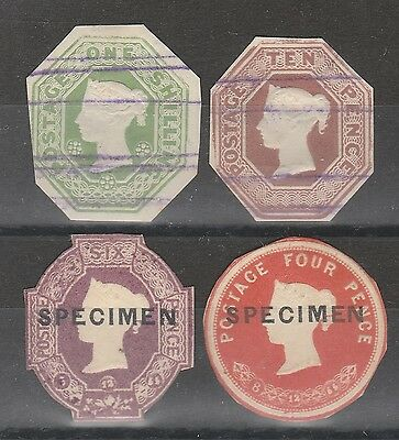 Queen Victoria Embossed Postal Stationery Cutouts