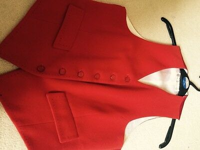 Red Showing Waistcoat