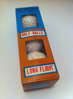Vintage 1950's Golden Arm golf balls, boxed, collectable