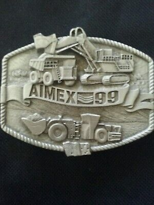 Aimex 99 mining belt buckle collectable