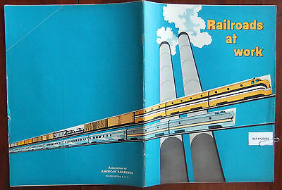1956 RAILROADS AT WORK Association Of American Railroad 40 pp Illustrated VG