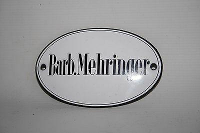 Barb.Mehringer Vintage Original Arts & Crafts Name Plaques Small 11 x 7 cm Metal