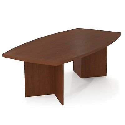 """Bestar BESTAR boat shaped conference table with 1 3/4"""" melamine top in Bordeaux"""