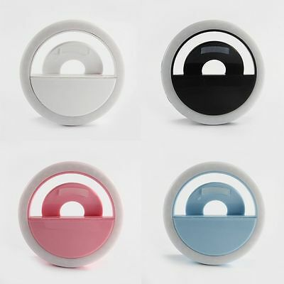 Rechargeable Selfie Portable LED Ring Fill Light Camera for iPhone Android Lot