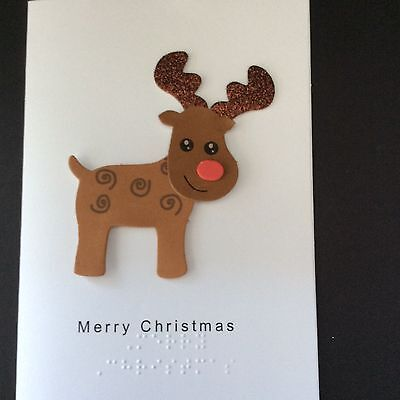 Christmas Card - tactile, braille, large print
