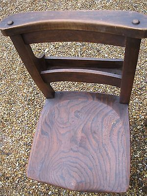 4 OLD CHURCH / CHAPEL CHAIRS. Delivery poss. ALSO PEWS & DIFFERENT CHAIRS. .