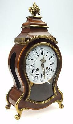 Out Standing Antique French Mahogany & Bronze Rococo Boulle Bracket Clock C1850