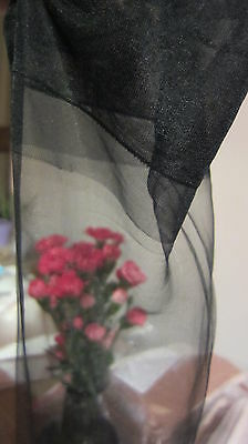 Vintage Stockings Seam Free Mip Sultry In Black Bare Heel- Sheer And Silky Demi
