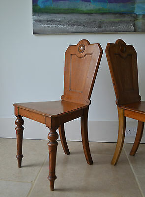 A Pair of 19th C Scottish Whytock & Co Oak Side Hall Console Lamp Table Chairs 2
