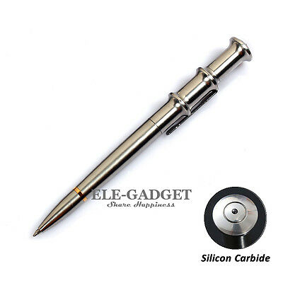High Quality Stainless Steel Tactical Pen With Silicon Carbide Glass Breaker