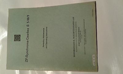 ZF gearbox  S  5-18/3 :  Assembly maintenance and Operating instruction manual