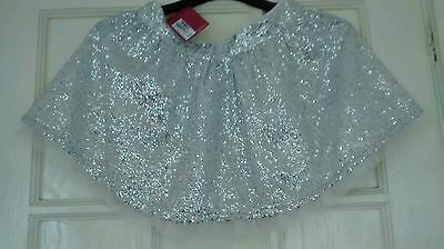 girls silver sequins skirt aged 9-10yrs rrp £22