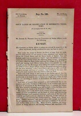 House Report-Sioux Lands in Minnesota Territory Bestowed Upon Half-Breeds -1854