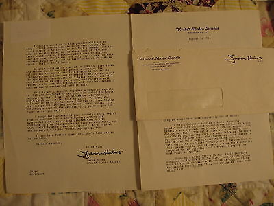 2-US Senate Letters from Sen. Jesse Helms NC, 1976 & 84' w/envelope + Ford Photo