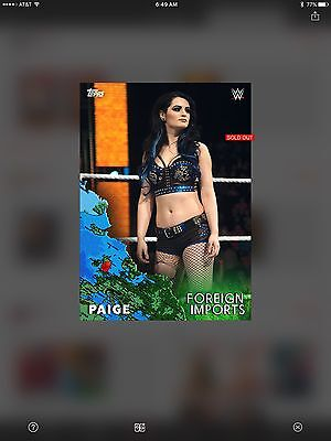 WWE SLAM Card Trader Foreign Imports Paige SOLDOUT