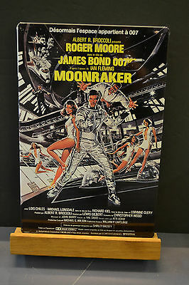 Tole Publicitaire Affiche Film - James Bond - Moonraker - Roger  Moore