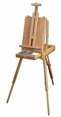 Loxley Artists Wooden HIGHLAND Sketch Box Travel & Studio Easel