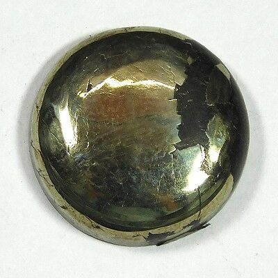 34Cts 100%NATURAL BEAUTIFUL PYRITE ROUND 20X20 LOOSE CAB GEMSTONE UL171