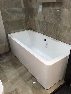 Ex display Square Freestanding Acrylic Bath Double Ended 1705 x 800mm