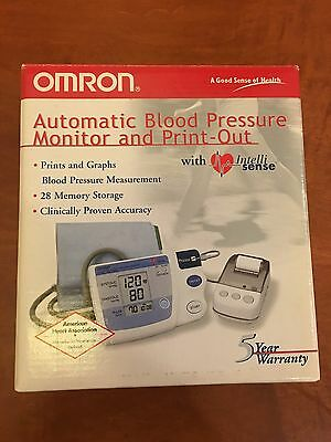 NEW! Omron HEM 705 CP Auto Inflate Blood Pressure Monitor with Printer