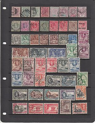 Gold Coast Early used lot of stamps from Victoria