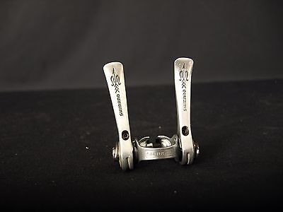 vintage Shimano 105 Golden Arrow clamp-on shifters