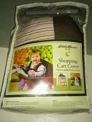 Eddie Bauer Brown And Pink Padded Shopping Cart Cover. New In Package