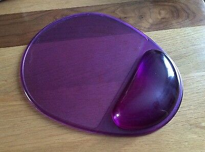 Mouse Mat With Gel Wrist Support - Anti Slip - Purple