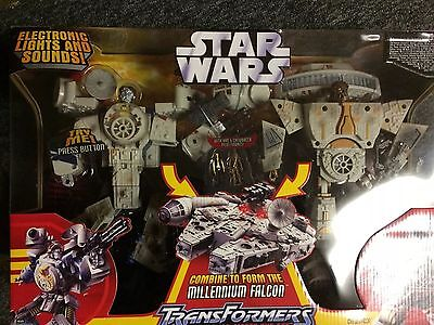 Star Wars Millenium Falcon Transformers Figure. New, Never Out The Box