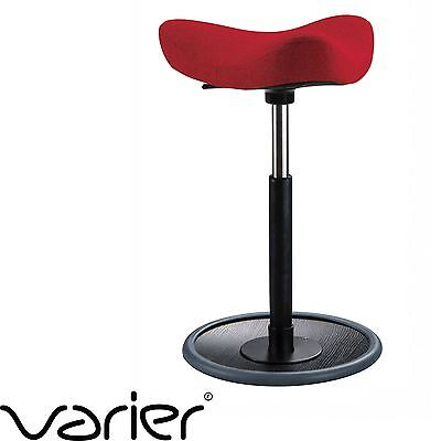 VARIER MOVE Kids - Active Sitting Stool Chair - RED Fabric & Black Ash Wood Base
