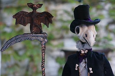 RavenMan is an original one-of-a-kind (OOAK), polymer clay Fantasy Doll.