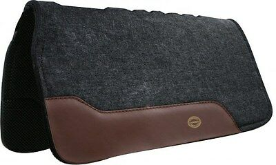 """Showman 32""""x32"""" Western Saddle Pad With Top Grain Wear Leathers! NEW HORSE TACK!"""