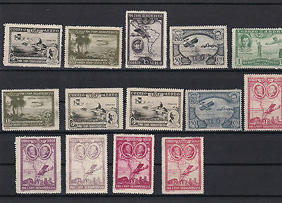 Spain 1930 Air Stamps Mostly Unmounted Mint With Sg 649 1P Purple     Ref 656
